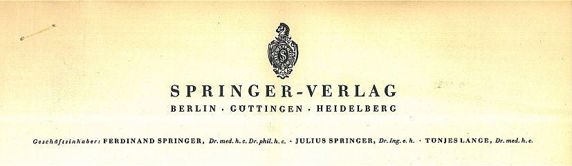 Von Werner von Siemens und Albert Einstein bis zur Neuerfindung des Buches - 175 Jahre Wissenschaftsverlag Springer
